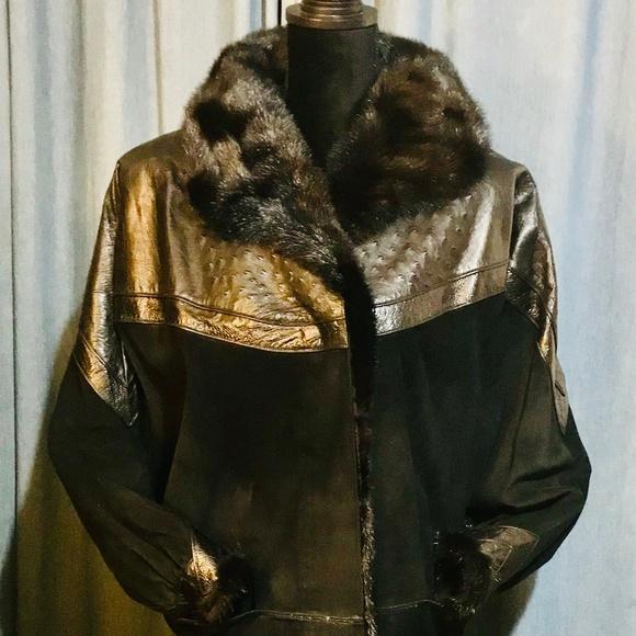 Beltrami Jackets & Blazers - Vintage Beltrami Leather, Suede & Mink Coat